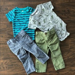 4 Piece Old Navy Baby/Toddler Boys' Outfits